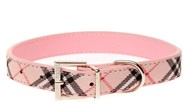 DOGUE Plaid Collar (Pink)