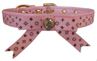 Handmade Pink Fifi Puppy Collar & Lead Set