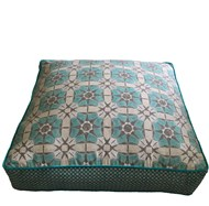 Luxe Azure Floor Cushion