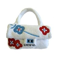 White Chewnel Bag Dog Toy