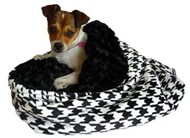 Houndstooth Minky Snuggle Pup '3 n 1'