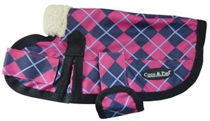 Waterproof Dog Coat 3009 (Small to Medium Doggies) Pink Check