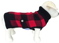 Handknitted Boston Pet Sweater (Red/Black)