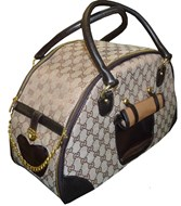 Designer Pucci Round Pet Carrier Bag (Brown)