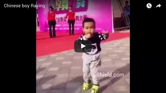 Chinese boy raving