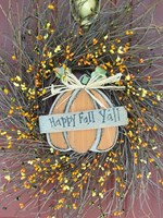 Happy Fall Y'all Sign Twig Wreath
