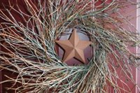 Small Barn Star Wreath-20""