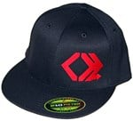 Black Flexfit, Flat Brim Hat
