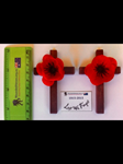 COMMEMORATIVE POPPY CROSS - HAND MADE FOR WOUNDED HEROES