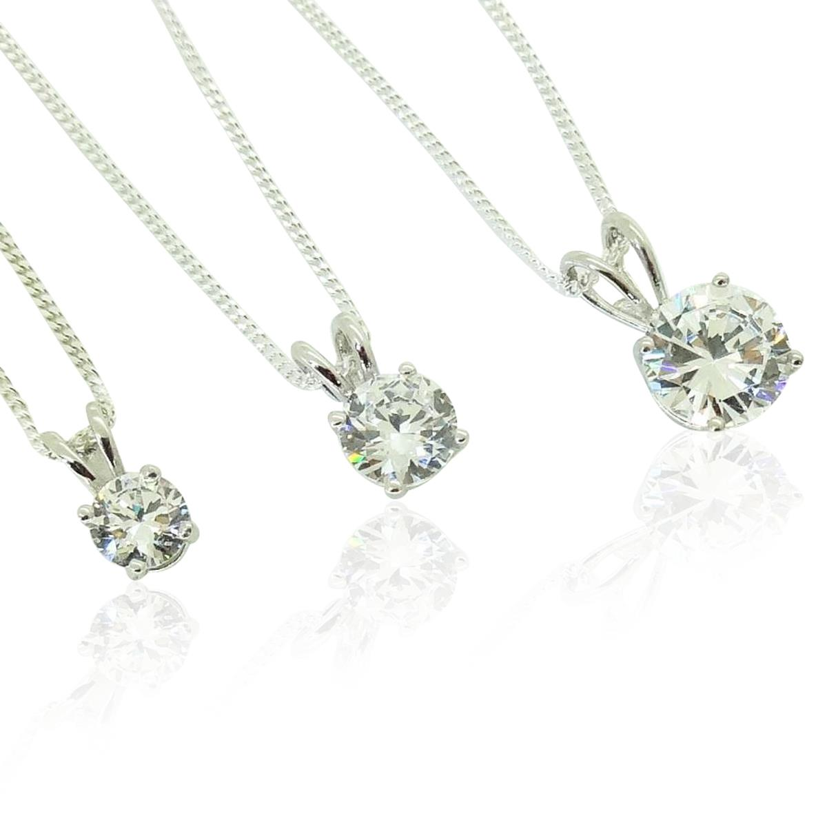 Perfect single diamond pendant heavenly necklaces faux diamonds perfect single diamond pendant aloadofball Image collections