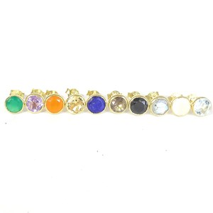 The Gold Gemstone Rubover Studs