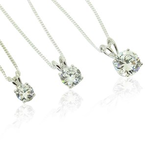 Perfect Single Diamond Pendant