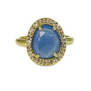 The Real Diamond and Aqua Chalcy Ring