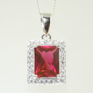 Square-cut Ruby Pendant
