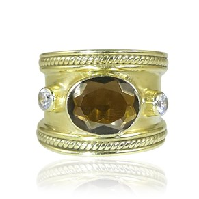 The Fabulous Smoky Topaz Guinevere Ring