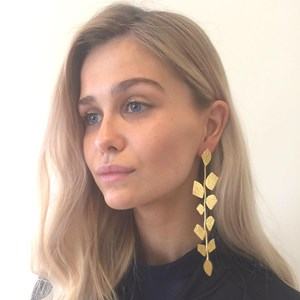 The fabulous gold leaf earrings