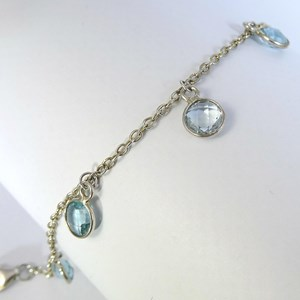 The Stunning Blue Topaz Drop bracelet