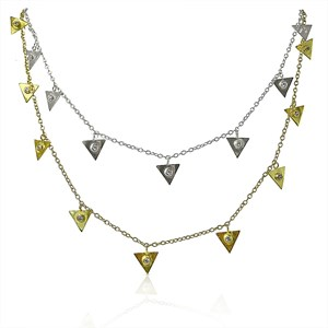 The Great Triangle Diamond Necklace