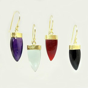 The Gemstone Shark's Tooth Earrings