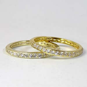The  Enchanting 2mm Gold Eternity Ring