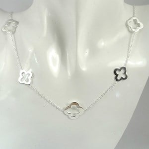 The Short Silver Clover Necklace