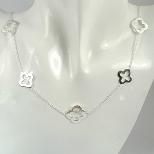 The Shorter Silver Clover Necklace