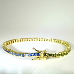 New!  The Dazzling Rainbow Tennis Bracelet