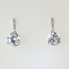 Solitaire Drops Earrings