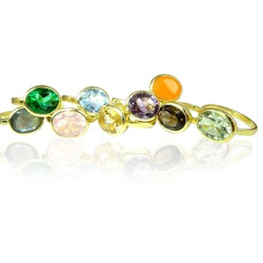 The Golden Oval Gemstone Ring
