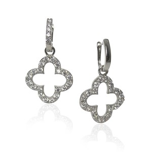 Silver 'diamond' clover detachables