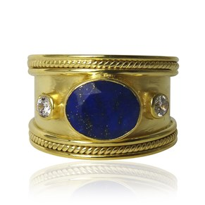 The Lapis Lazuli Guinevere Ring