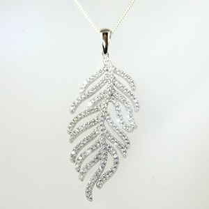 Wonderful: The 'Diamond' Feather Pendant