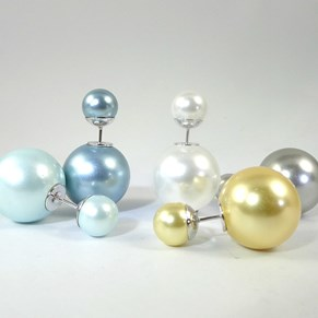 Back-to-front Pearl Earrings