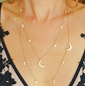 The Moon and Stars Necklace