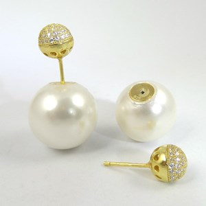 New! Back-to-front Pearl-and-Diamond Earrings
