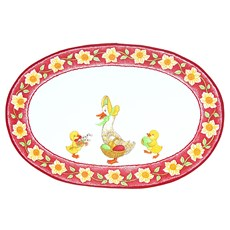 Duck with ducklings, Easter Serviette, Red