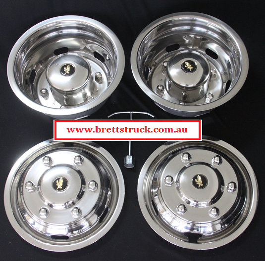 Isrtsprint simulator set stainless steel chrome look wheel for Mercedes benz sprinter wheel covers