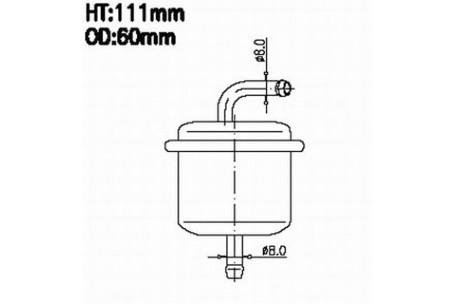 fs29296 fuel filter for toyota 23300