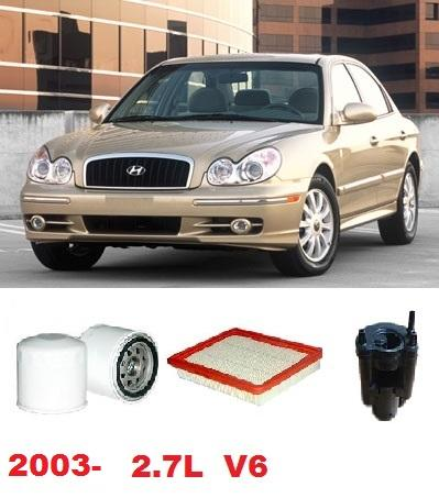 2003 hyundai sonata fuel filter kit5049h filter kit hyundai sonata ef-b 2.7l v6 g6bay mpfi 2003-2006 oil fuel air service kit ...