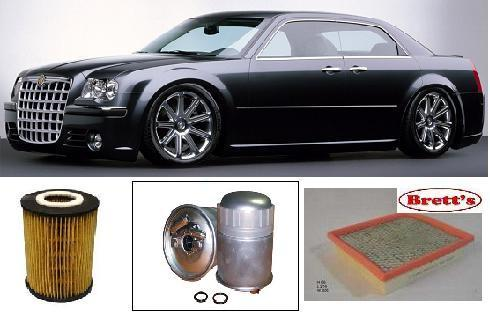 kit9401 filter kit filter chrysler 300c 2005- le  turbo diesel  om642   mpfi  dohc 24v oil air fuel service kit - truck parts and all filters hino  isuzu fuso