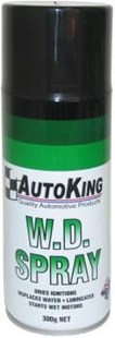 AKWD03 300G 300ML GET IN THERE PENETRATING FLUID Trusted Formula. Dries IgnitionS  Displaces Water Lubricates Parts  Starts Wet Motors  AKWD40 'AUTO KING' W.D. SPRAY - 300g AERO