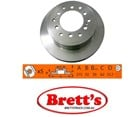 RN1531V DISC ROTOR NiBK JNBK NIBK  FRONT FOR   CROSS REFERENCE NUMBERS > TOYOTA    43512-30210 TOYOTA    4351230210