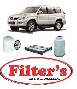 KIT9012 FILTER KIT FOR TOYOTA LANDCRUISER PRADO K-11270 KDJ120R 1KD-FTV 4 3  D TURBO INTERCOOLED 11/2006-11/2009