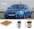 KITO101 FILTER KIT  OPEL INSIGNIA  GA    2L   2.0    08/2012-On  2013-  Turbo Diesel    A20DTH  OIL AIR  FUEL LUBE SERVICE KIT