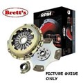 RPM1011N-SC RPM  LEVEL 4 CLUTCH KIT RPM Mazda B2600 2.6 Ltr 5 Speed 03/87-11/91 Ford Courier PC Includes Raider 2.6 Ltr 01/86-12/92  PBR FREE SHIPPING*  R1011N R1011 RPM1011 RPM1011N