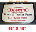 MUD0002 *BUY 1 & GET 1 FREE* GENUINE BRETTS TRUCK PARTS MUDFLAPS 18