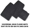 18880.001 RUBBER FLOOR MAT SET OF 3 SUIT HINO 2003-2011 FD GD FF GH RANGER PRO 500 FD1J GD1J FT1J GH1J FD8J GD8J FF8J