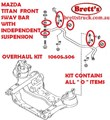 SPEC 10605.506 KIT BUSH FRONT SWAY BAR  MAZDA TITAN 2000- WITH IFS INDEPENDENT FRONT SUSPENSION  STAB STABILIZER BUSH AND LINK OVERHAUL KIT W61234156  066234153