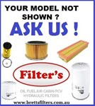 KITS8ZZ FILTER KIT TO SUIT YOUR MODEL SEAT  OIL AIR BY-PASS FUEL LUBE SERVICE KIT