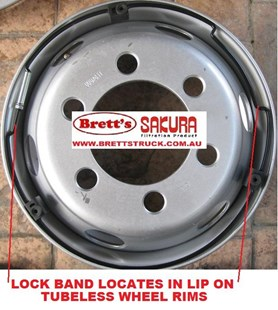 "SS225Z005 MOUNTING RING 17.5"" SERIES WHEEL COVERS STAINLESS STEEL S/S LOCK BAND WHEEL COVER HINO ISUZU UD NISSAN FUSO MITSUBISHI SS225"